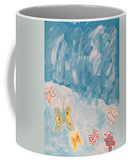 Coffee Mug featuring the painting Butterfly Flight by Sonali Gangane