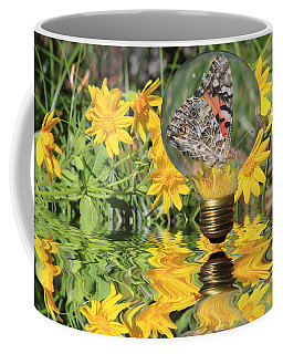 Butterfly In A Bulb II - Landscape Coffee Mug