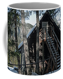 Coffee Mug featuring the photograph Cabin Get Away by Tikvah's Hope