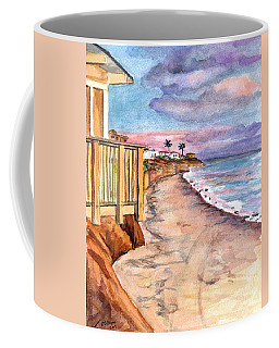Coffee Mug featuring the painting California Coast by Clara Sue Beym