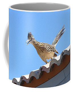 Coffee Mug featuring the photograph California Roadrunner by Carla Parris