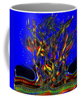 Coffee Mug featuring the digital art Camp Fire Delight by Alec Drake