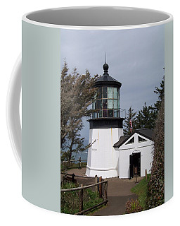 Cape Meares Lighthouse In Oregon Coffee Mug by Peter Mooyman