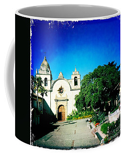 Coffee Mug featuring the photograph Carmel Mission by Nina Prommer