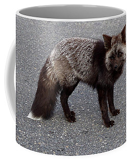 Cascade Red Fox -silver Coffee Mug by Peter Mooyman