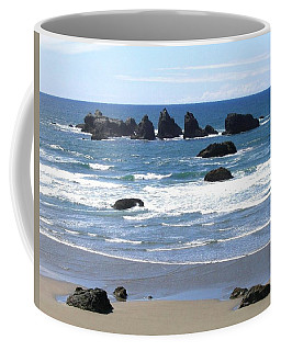 Coffee Mug featuring the photograph Cat And Kittens Rocks by Will Borden