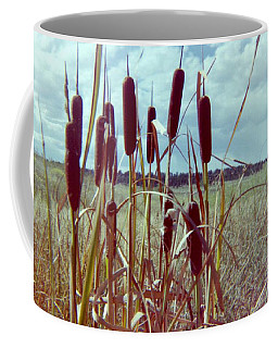 Coffee Mug featuring the photograph Cat Tails by Bonfire Photography