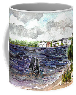 Coffee Mug featuring the painting Cedar Beach by Clara Sue Beym