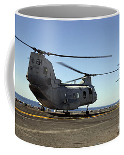 Ch-46e Sea Knight Helicopters Practice Coffee Mug