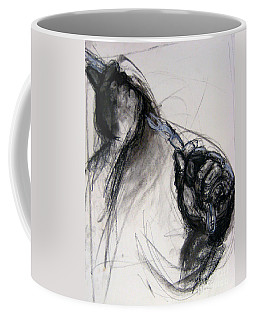 Coffee Mug featuring the drawing Chain by Gabrielle Wilson-Sealy