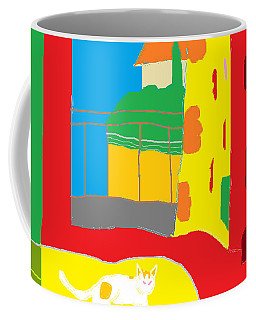Coffee Mug featuring the painting Charity By The Window by Anita Dale Livaditis