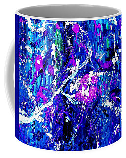 Coffee Mug featuring the painting Cherry Blossom Explosion by Michelle Dallocchio
