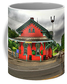 Coffee Mug featuring the photograph Chester Station by Adrian LaRoque