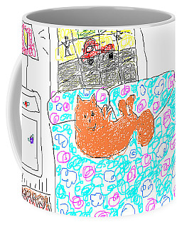 Chica Looking Out The Window Coffee Mug