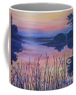 Coffee Mug featuring the painting Chincoteaque Island Sunset by Julie Brugh Riffey