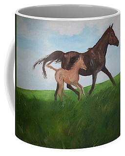 Coffee Mug featuring the painting Chloe's Dream by George Pedro