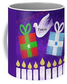 Christmas And Hanukkah Peace Coffee Mug