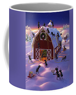 Christmas Decorator Ants Coffee Mug