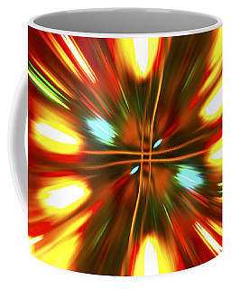 Coffee Mug featuring the photograph Christmas Light Abstract by Steve Purnell
