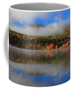 Church Across The Lake-panoramic Coffee Mug