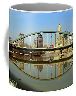 City Reflections Through A Bridge Coffee Mug