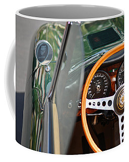 Classic Green Jaguar Artwork Coffee Mug