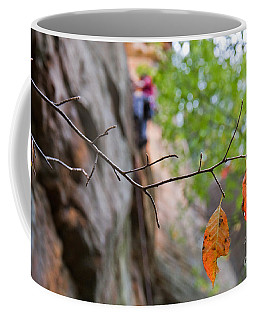 Climber In Fall Coffee Mug