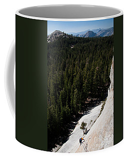 Climber In Yosemite Coffee Mug