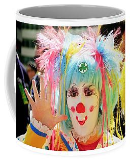 Coffee Mug featuring the photograph Cloverleaf Clown by Alice Gipson
