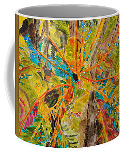 Collage Of Leaves Coffee Mug by Meryl Goudey
