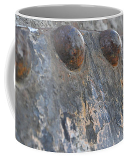 Coffee Mug featuring the photograph Color Of Steel 7 by Fran Riley