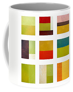 Color Study Abstract Collage Coffee Mug