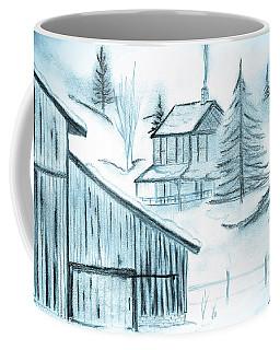 Coffee Mug featuring the drawing Colorado Farm by Shannon Harrington