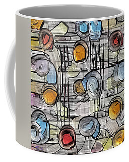 Colors Fighting To Get Out Coffee Mug by Alec Drake