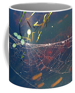 Coffee Mug featuring the photograph Complexity Of The Web by Nina Prommer