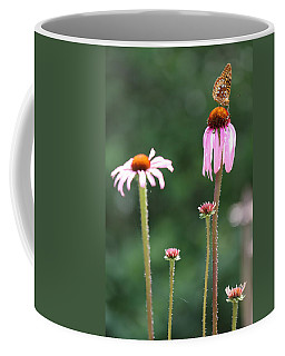 Coneflowers And Butterfly Coffee Mug