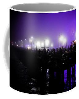 Cool Night At Santa Monica Pier Coffee Mug