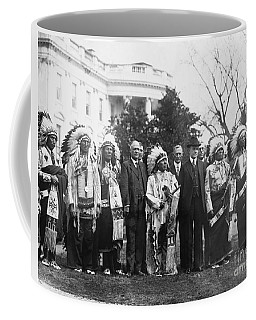 Coolidge With Native Americans Coffee Mug