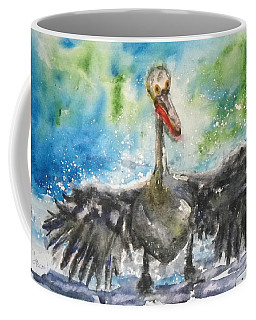 Coffee Mug featuring the painting Cooling Off by Anna Ruzsan