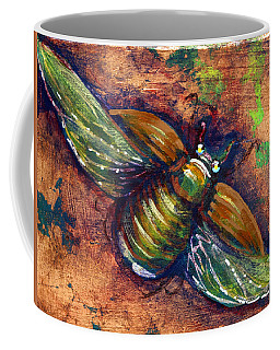 Copper Beetle Coffee Mug