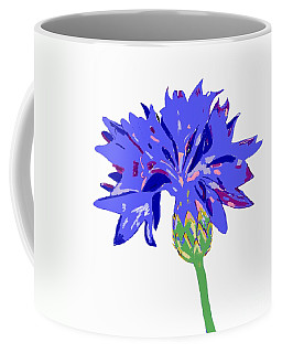 Coffee Mug featuring the digital art Cornflower by Barbara Moignard