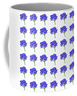 Coffee Mug featuring the digital art Cornflowers by Barbara Moignard