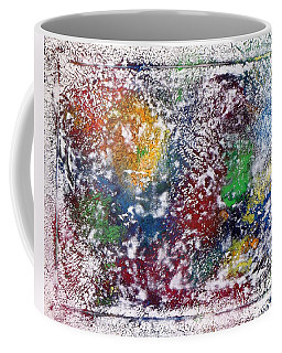 Coffee Mug featuring the painting Cosmos by Alys Caviness-Gober