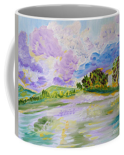 Cotton Candy Clouds Coffee Mug by Meryl Goudey