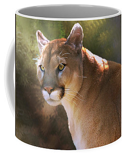 Coffee Mug featuring the digital art Cougar by Mary Almond