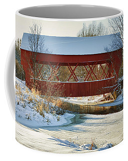 Coffee Mug featuring the photograph Covered Bridge by Eunice Gibb