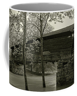 Coffee Mug featuring the photograph Covered Bridge by Mary Almond