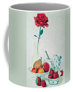 Coffee Mug featuring the photograph Crackled Rose by Elf Evans