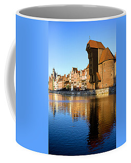 Crane In The Old Town Of Gdansk Coffee Mug