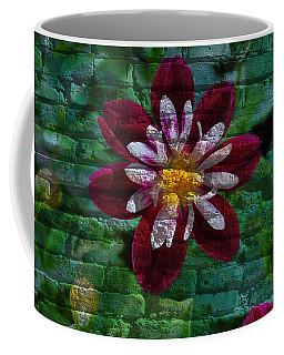 Crazy Flower Over Brick Coffee Mug by Eric Liller